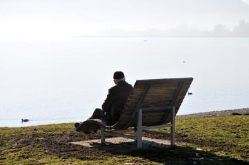 chilling out near lake