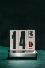 Handmade Calendar with Valentine Day