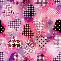 Grunge hearts background