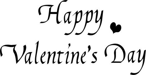 ハッピーバレンタインデー 文字素材