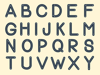 vector illustration of the alphabet