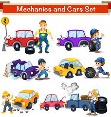 Mechanics and cars set
