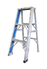 Grunge ladder on white background with clipping path