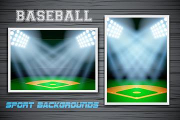 Set Backgrounds of baseball stadium