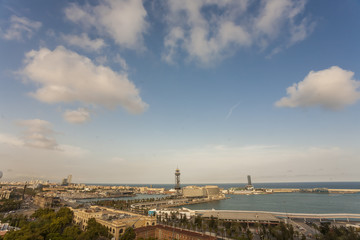 Montjuic,architecture, art, barcelona, blue, building, buildings, catalonia, city, cityscape, clouds, design, destination, espana, europe,