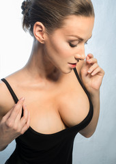 Woman BEAUTIFUL made silicone breast