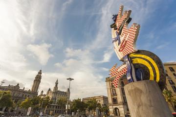architecture, art, barcelona, blue, building, buildings, catalonia, city, cityscape, clouds, design, destination, espana, europe