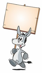Running Donkey with Board