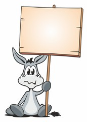 Sitting Donkey with Board