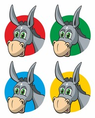 Donkey Heads various colored