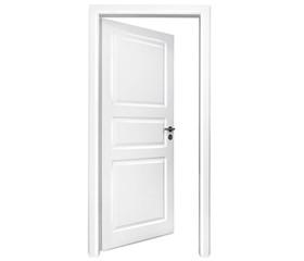 Weiße Tür