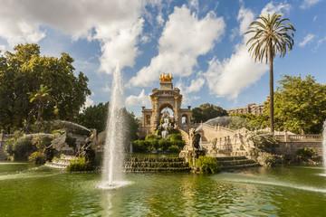 parc de la ciutadella, architecture, art, barcelona, blue, building, buildings, cascada, cascade, catalonia, city, ciutadella,