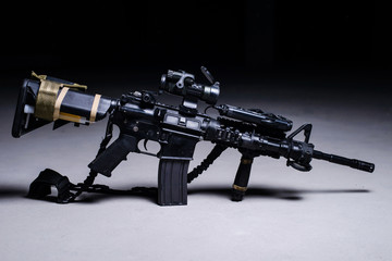 Assult automatic rifle/Assult automatic rifle M4 with optical sight