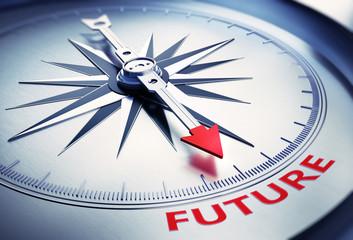 Silbergrauer Kompass Future