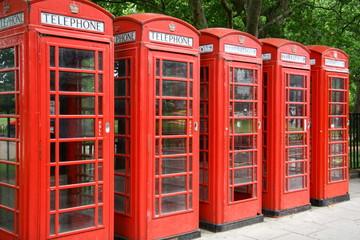 Telefonzellen in London, Großbritannien