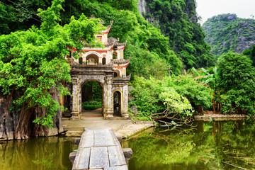 Main gate to the Bich Dong Pagoda, Ninh Binh Province, Vietnam
