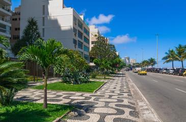 Seafront of Ipanema in Rio de Janeiro. Brazil