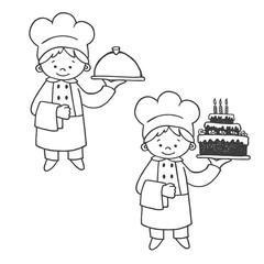 Kitchen and confectioner vector illustration