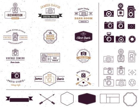 Photographer and photo studio sign, element, icon, signatute