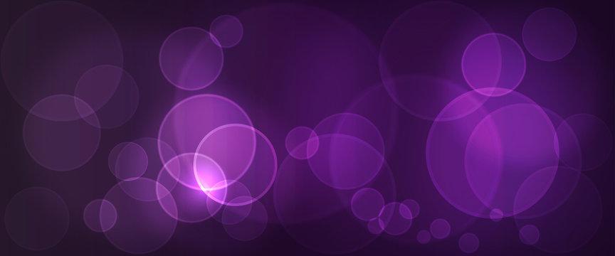 Hintergrund - Bokeh lila