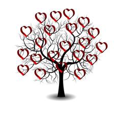 Heart silhouette on tree