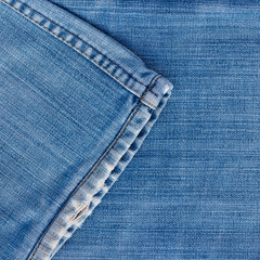 Jeans texture with seam.