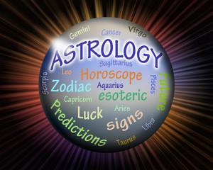 Astrology crystal ball