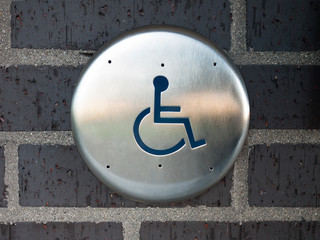 Handicapped Automatic Door Opener Button