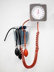 Sphygmomanometer Blood Pressure Gauge in a Doctor's Office