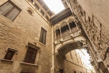 ancient, architecture, art, barcelona, barri, barri gothic, blue, bridge, building, catalan, catalonia, catalonian, catalunya, cathedral, chapel, church, city, cityscape