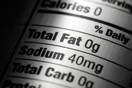 Nutrition Label on Diet Soda Pop Can