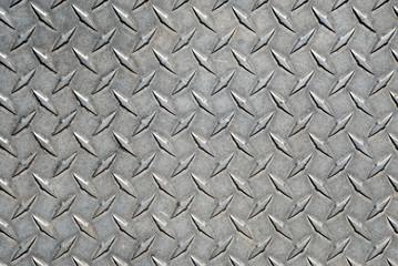 Worn Metal Diamond Tread Plate