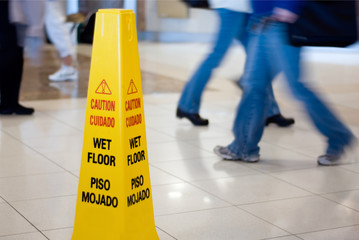 Wet Floor Sign with People Picture