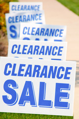 Clearance Sale Signs Photo