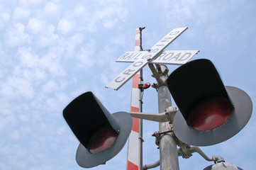 Railroad Crossing Sign Lights Picture