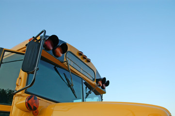 School Bus Picture with Copy Space