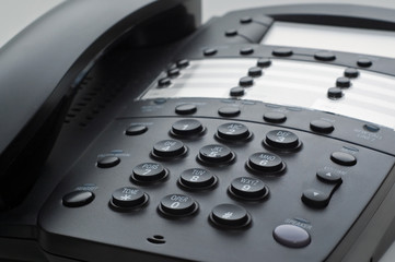 Black Business Phone Close-Up Picture