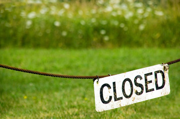 Closed Sign at Forest Preserve Park Picture