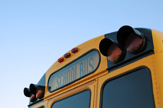 School Bus Photo with Copy Space