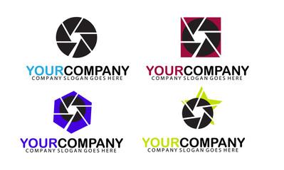 Set of camera logo for your company.