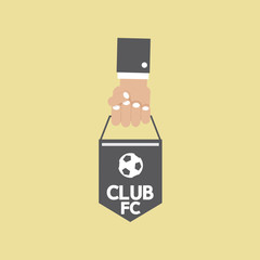 Football or Soccer Pennant Banner.