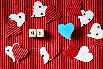 valentine day paper heart shape
