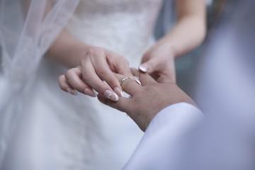 指輪交換/結婚指輪の交換です