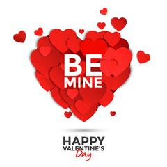 Paper heart Valentine's