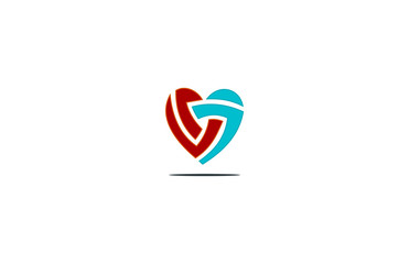 heart abstract logo