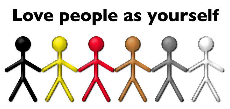 Love other people with stick figures