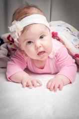 Newborn pretty baby girl pink baby clothes