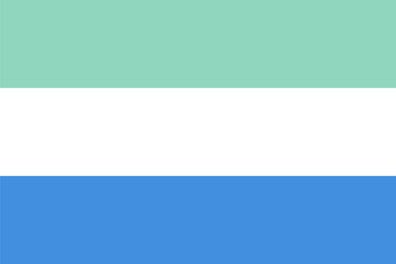 Standard Proportions for Sierra Leone Flag