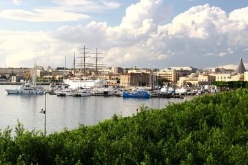 Hafen von Syrakus, Sizilien, Italien