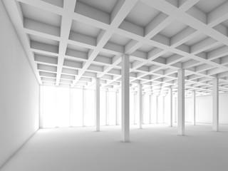 White empty room interior, 3 d illustration